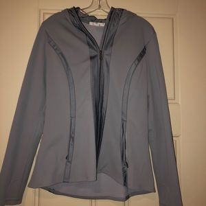 ATHLETA Grey ZIP Up Jacket With Hood
